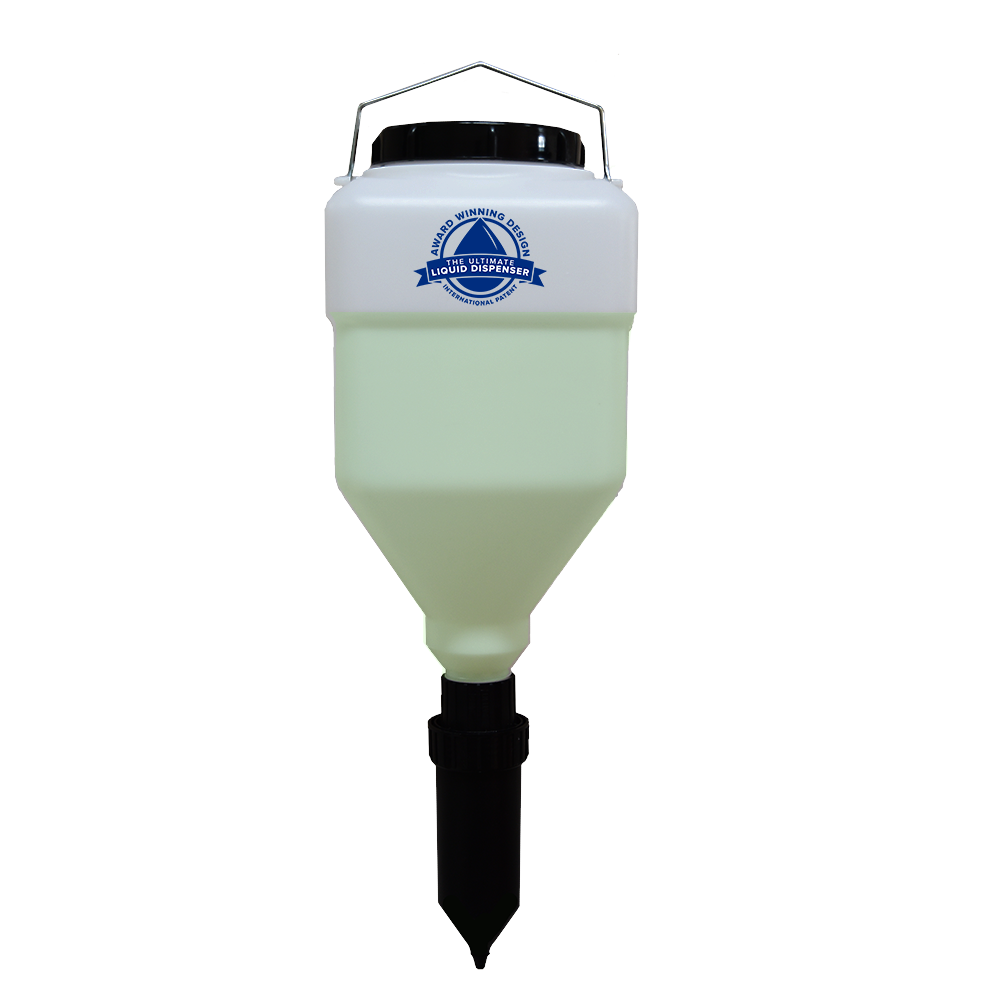 hanging soap dispenser - gravity fed hand pump